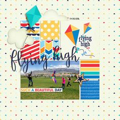 Flying High is a digital scrapbook kit by Melissa Bennett, River Rose Designs & Two Tiny Turtles and is perfect for scrapping your high flying outdoor adventures.