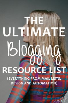 This is it - the mother of all blogging resource lists. This has more than 45 resources listed for your blog and business. Plus I will keep updating it so you've always got access to the latest amazing resources.