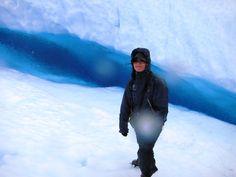 grieta azul, glaciar zona limpia