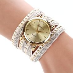 Amazon.com : Reloj De Mujer, New Women Crystal Rivet Bracelet Quartz Braided Winding Wrap Wrist Watch, Joyas, Prendas, Joyeria, Lo Mas Nuevo : Everything Else