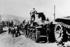 "A column of Type 95 ""Ha-Go"" tanks"