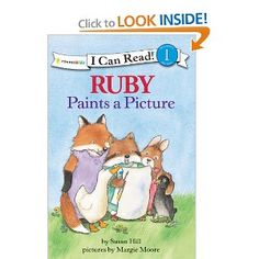 Ruby Paints a Picture (I Can Read! / Ruby Raccoon): Susan Hill, Margie Moore: 9780310720232: Amazon.com: Books