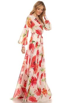 Meesh Wrap Maxi Dress - Tulip - ShopLuckyDuck  - 6