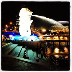 The Merlion, symbol of Singapore! // #italianiasingapore #italiansinsingapore