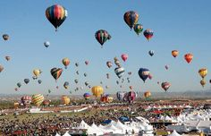 Alburquerque Balloon Festival.  One month from now, this is where I'll be!!  So excited!  Knocking one off the bucket list.