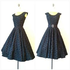 Hey, I found this really awesome Etsy listing at https://www.etsy.com/listing/262889067/the-beautiful-black-dress-vintage-1950s