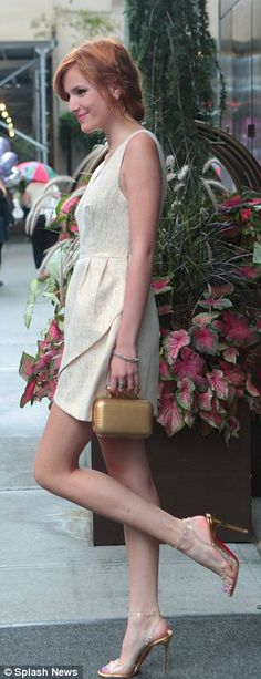 Bella Thorne I like the dress but not with the shoes, I don't like the shoes at all