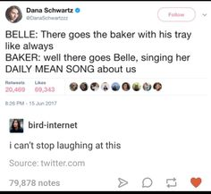 Well they were singing about her behind her back too, but this is funny