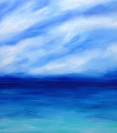 """ARTFINDER: """"Ocean Solitude"""" 100x100 eligible for... by Lucy Moore - """"Ocean Solitude""""  A Peaceful seascape with nothing but the sound of the ocean in the air.   **I WILL SHIP GLOBALLY PLEASE CONTACT ME FOR AN ACCURATE QUOTE..."""