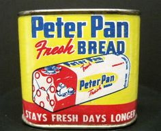 VINTAGE ADVERTISING TIN-PETER PAN BREAD STILL BANK-FOOD