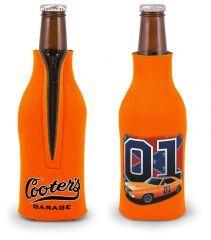 Bottle Koozie 01/General Lee With Flag (Orange)