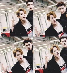 Baekhyun Call Me Baby MV ❤️ and then there's Sehun looking into the camera