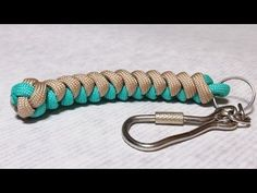 How to make Snake knot paracord keychain by ParacordKnots - YouTube