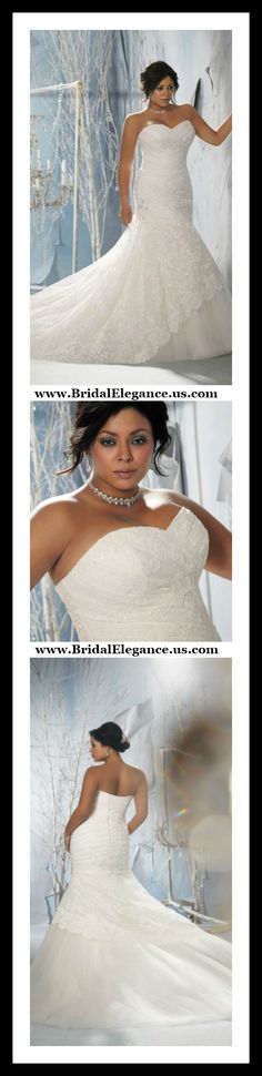 #Mermaid #PlusSize #WeddingGown #WeddingWednesday #RealWoman #NotASize2 @BridalElegance www.BridalElegance.us.com