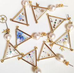 幾何学の星ピアス by licol アクセサリー ピアス