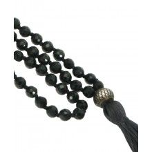 108 Faceted Onyx Beads Premium Knotted Meditation Mala