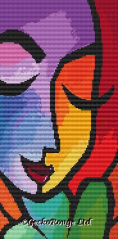 Gecko Rouge modern cross stitch are proud to announce that we have teamed up with artist ©Thomas Fedro to bring you unique modern cross stitch kits.