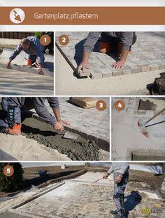 Gartenplatz pflastern leicht gemacht! Gerade das Pflastern im eigenen Garten ist ein Kinderspiel. Diese Anleitung zeigt worauf es ankommt.