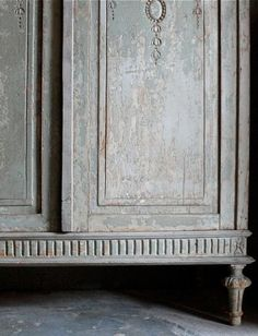 Gray Painted Antique Chest via trouvais-solution for the armoire i can't part with?