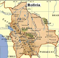 This Map Shows All The Major Cities Of Bolivia La Paz Sucre - Bolivia map