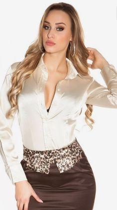 Satin Shirt, Satin Blouses, Blouse Styles, Satin Dresses, Offices, Victoria, Womens Fashion, Google, Leather