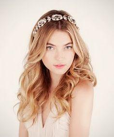 Wedding hair - bridal headband - ban.do