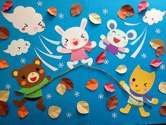 ♪北風さんにまけないよ♪ 壁面 保育園 幼稚園 壁面飾り 小児科 - ヤフオク!