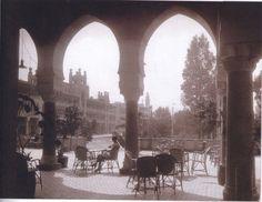 Heliopolis Palace Hotel, rear facade and terrace, Cairo, Egypt, ca. 1910.