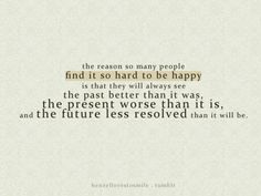 All about the past.