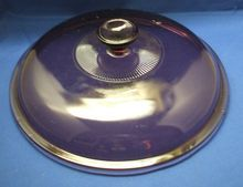"""Corning Pyrex Cranberry Visions 10 3/4"""" Lid Only"""