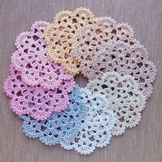 Luty Artes Crochet: Descanço de copos