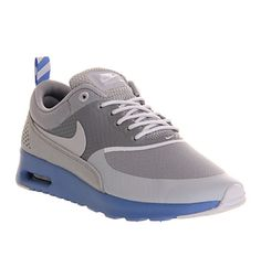 Nike AIR MAX THEA GREY BLUE SPARKLE Shoes - Nike Trainers - Office Shoes