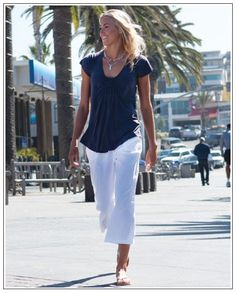 I'd eve wear this favorite summer wear in Fresno...not just Hawaii...capris & comfy shirt