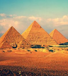 The Great Pyramids of Giza, Cairo, Egypt.