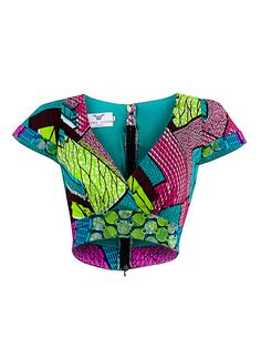 Georgina crop top - OHEMA OHENE AFRICAN INSPIRED FASHION  - 1