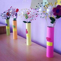 Köpük top ile çiçeklerimiz