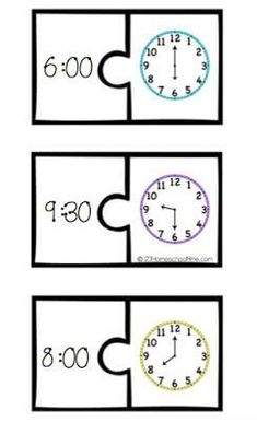 telling time games to help kids practice telling time on both a digital and anlog clock Clock Games For Kids, Math For Kids, Kids Clocks, Teaching Time, Teaching Math, Math Games, Math Activities, Sunday Activities, Kindness Activities