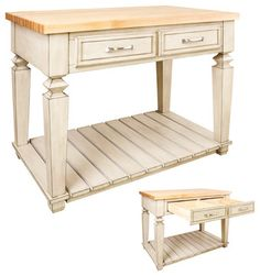 Table Style Kitchen Island By Jeffrey Alexander ISL09-FWH - HomeThangs.com traditional kitchen islands and kitchen carts