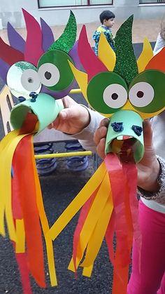 Mini Taller d'Art: Dragón Chino Mini Taller d'Art: Dragón… - bigoltrucks Kids Crafts, New Year's Crafts, Animal Crafts For Kids, Craft Activities For Kids, Summer Crafts, Toddler Crafts, Preschool Crafts, Fall Crafts, Art For Kids