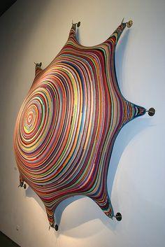 Nifty sea creature/breast/pavillion trying to lift off the wall. Joana Vasconcelos