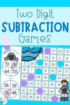 Two digit subtraction with regrouping can be so much fun with games. Perfect for centers and small groups, your 2nd grade students are going to love learning to regroup with these subtraction games. #mathgames #subtractionwithregrouping#twodigitsubtraction