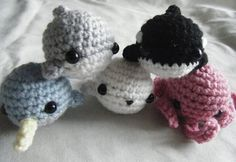 Sea Animals Tiny Amigurumi -... from ChibiSayuri on Wanelo