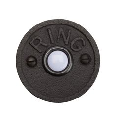 $25 vintage feel door bell buzzer http://www.rejuvenation.com/catalog/products/ring-circle-doorbell-button/items/c7033-ob