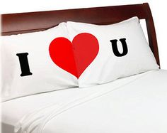 A pair of 2 Standard pillow cases 20 x 30 personalized with You Complete Me Heart design  Valentines Gift Idea Heart Pillowcases - You complete me, for him, for her, for husband, for wife, for man, for woman. for a couple.  Great gift idea for a couple. Just switch the regular pillowcases and watch their heart melt!  ____ IMPORTANT: WHEN ORDERING PLEASE SELECT Pillow Color: White is the most popular - giving you that perfect red and white effect. But some of our customers have been asking…