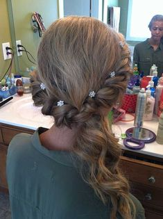40 Hairstyles for Prom 2015 Hairstyles, Twist Hairstyles, Curled Hairstyles, Pretty Hairstyles, Wedding Hairstyles, Hairstyle Ideas, Medium Hairstyles, Grad Hairstyles, Teenage Hairstyles