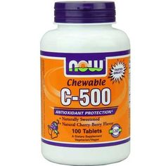 Now Foods C-500 Chew Cherry 100 Tablets - Anti-aging - Shop by Health Condition - Vitamins, Minerals, Herbs & More