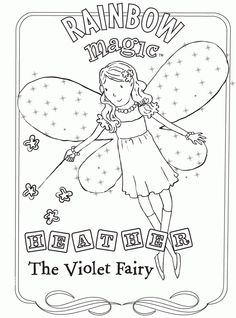 rainbow magic coloring pages - Rainbow Picture To Colour