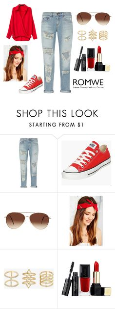 """Red Blouse *"" by beatrizcosta96 ❤ liked on Polyvore featuring rag & bone, Converse, Eloquii, Urban Renewal, Torrid and Guerlain"