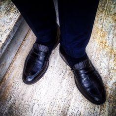 """Scarpe """"College"""" per uomo in vera pelle di anguilla disegnato da Salamastra  --- Men's loafer """"College"""" in authentic eel skin designed by Salamastra"""