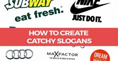 Some helpful ideas and tips on how to create your catchy slogans and taglines for your startup or brand.